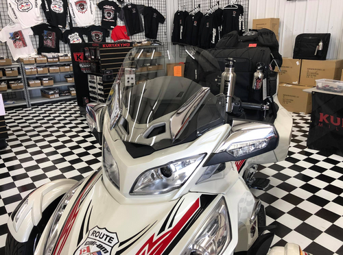 Can Am Spyder RT, RT-S and RT-LTD Freedom windshield (LGA-4008) Lamonster Approved
