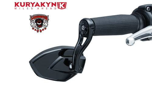 Kuryakyn Phantom Bar End Mirrors (KYN-1959) Lamonster Approved