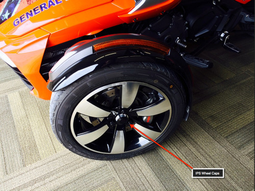 Can Am Spyder IPS Wheel Caps (outside) by Lamonster Fits all Can Am Spyder Wheels with center caps
