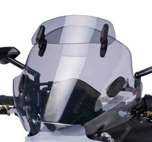 Ryker / Universal Windshield with Visor (Light Smoke) (LGA-5920H) Lamonster Approved