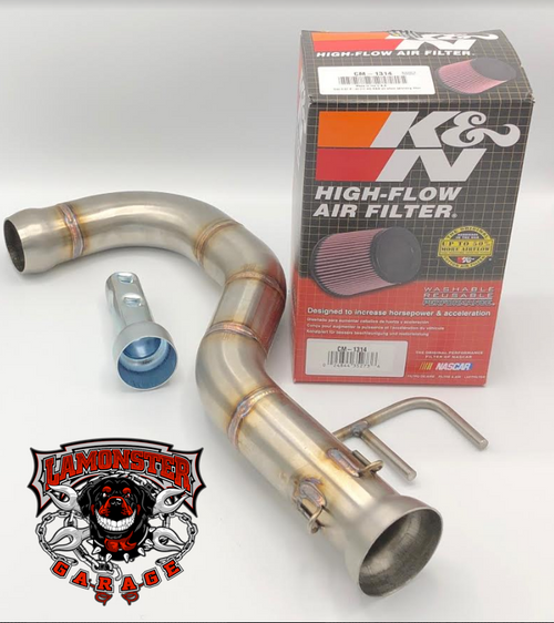 Lamonster Performance Muffler Replacement Pipe 1330 with K&N Air Filter (LG-1330-1314)