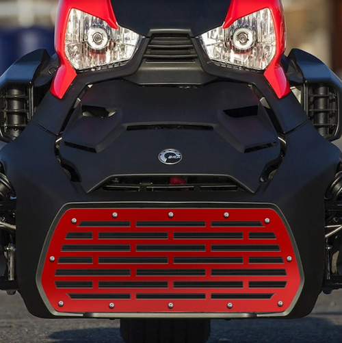 Can Am Ryker Grille 1 piece Steel-Bricks (AMR-BRICKS-RED) by 300 Industries