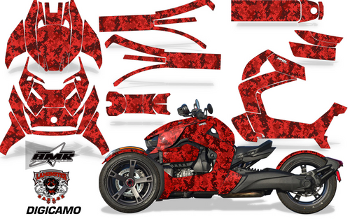 Full Body Wrap Graphic Sticker Decal for Can-Am Ryker 2019 - Present / Digital Camo (AMR-1001)