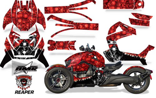 Full Body Wrap Graphic Sticker Decal for Can-Am Ryker 2019 - Present / Red Reaper (AMR-1005)