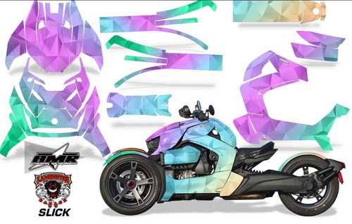 Full Body Wrap Graphic Sticker Decal for Can-Am Ryker 2019 - Present / Slick (AMR-1006)