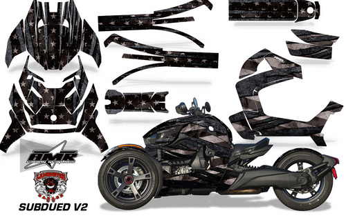 Full Body Wrap Graphic Sticker Decal for Can-Am Ryker 2019 - Present / Subdued V2 (AMR-1008)