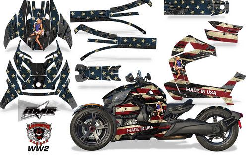 Full Body Wrap Graphic Sticker Decal for Can-Am Ryker 2019 - Present / WW2 (AMR-1011)
