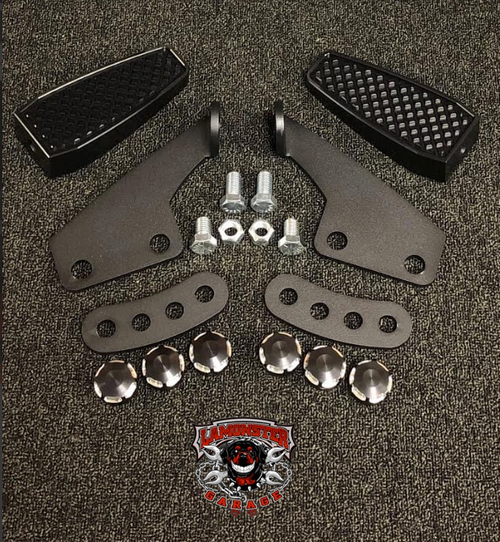 Can Am Spyder F3, Black Dymond Highway Brackets (LG-99-1044B-1046) by Lamonster (Highway Bracket and Pegs Shown)