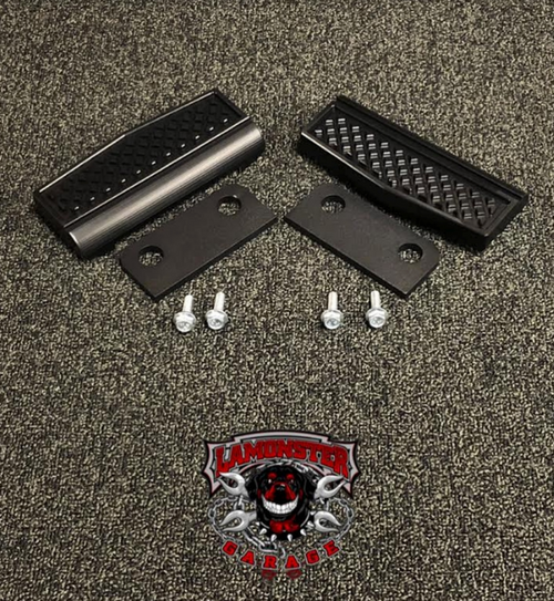 Can Am Spyder F3, Black Dymond Highway Brackets (LG-99-1044B-1046) by Lamonster (Peg Insert Shown)