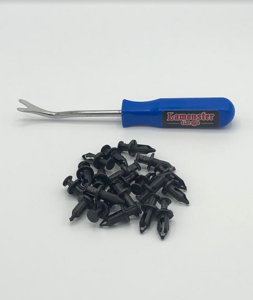 PUSH PIN REMOVAL TOOL with 20PC PUSH PINS (LG-4009) by Lamonster