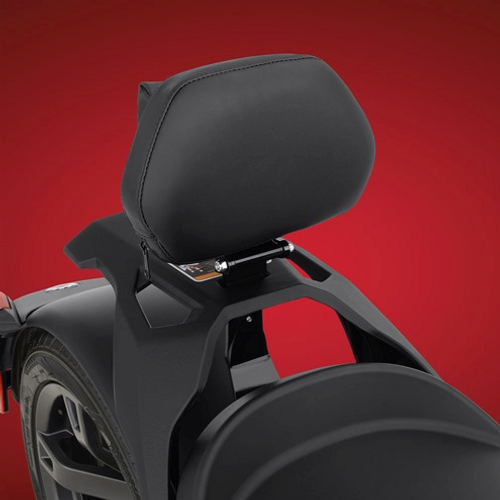 Quick Detach Backrest for the Can-Am Ryker (SC-41-405) Lamonster Approved Backrest on Can-Am Ryker (With Max Mount)