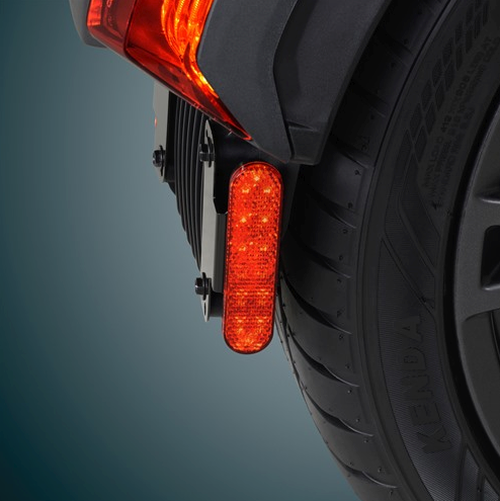 "CAN AM RYKER RED LED 1"" X 3 3/4"" MARKER LIGHT (SC-16-119R)  Red LED Marker Lights On Ryker (Side View - Lights ON)"
