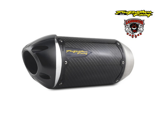 Can-Am Spyder F3-T / F3-LTD (2015-2020) S1R Standard Carbon Slip-On (TB-005-4660405-S1) Lamonster Approved (muffler/end cap length and orientation may vary, see bike image for accurate representation)