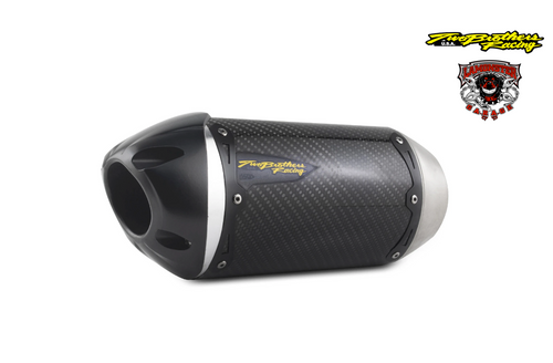 Can-Am Spyder RT (2014-2019) S1R Standard Carbon Slip-On (TB-005-3930405-S1) Lamonster Approved (muffler/end cap length and orientation may vary, see bike image for accurate representation)