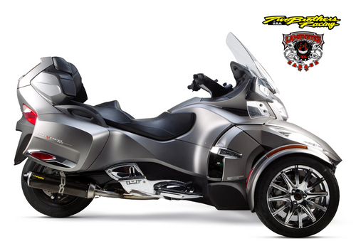 Can-Am Spyder RT (2014-2019) S1R Black Aluminum Slip-On (TB-005-3930406-S1B) Lamonster Approved