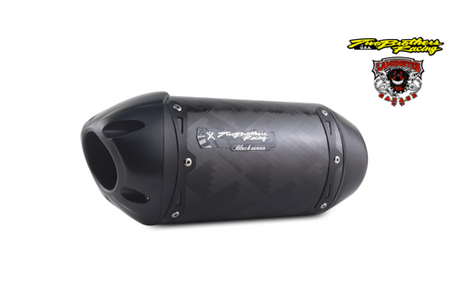 Can-Am Spyder RT (2014-2019) S1R Black Carbon Slip-On (TB-005-3930407-S1B) Lamonster Approved (muffler/end cap length and orientation may vary, see bike image for accurate representation)