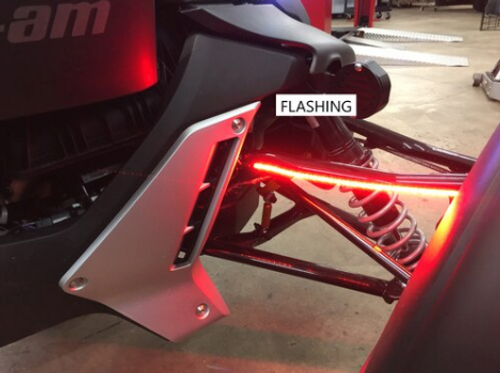 RYKER-OPTIC RED/RUN/TURN SIGNALS ON UPPER A-ARM REAR FACING LED LIGHTS (ADD-ON KIT) TO BE USED WITH HOOD LIGHTS OR AMBER BRUSH GUARD SIGNALS THAT ALREADY HAVE FENDER HARNESSES, PLUG/PLAY. (SPY-386)