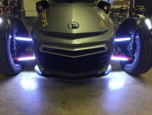 Can-Am Spyder Double Vision Daytime Running Lights (For all 4 A-Arms) RT (SPY-231-RT) Lamonster Approved