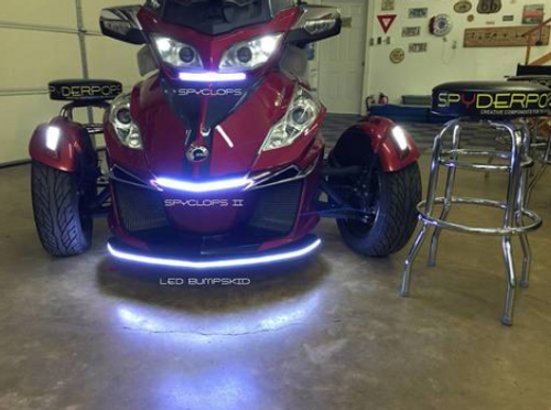 """RT BRIGHT """"SPYCLOPSII"""" LED LIGHT FOR UNDER THE FRONT LIP OF THE HOOD (SPY-209)"""