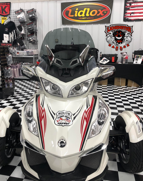 "Can Am Spyder RT, RT-S and RT-LTD Freedom windshield 20"" Medium Tint (2010 - 2021) (LGA-4008-20M) Lamonster Approved"