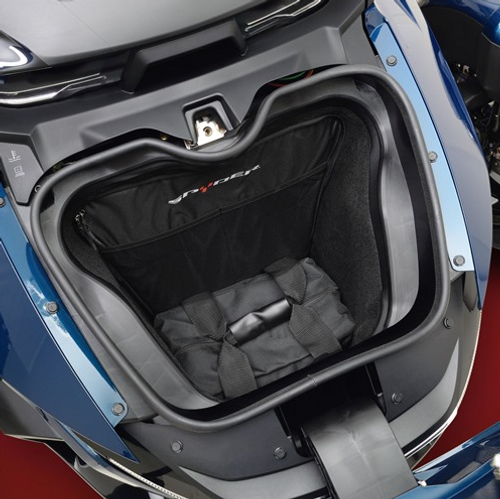 FRONT TRUNK BAG FOR THE CAN-AM RT 2020 (2pc set) (SC-HCFL-RT) Front Trunk Liners On 2020 Spyder RT (Bottom Liner)