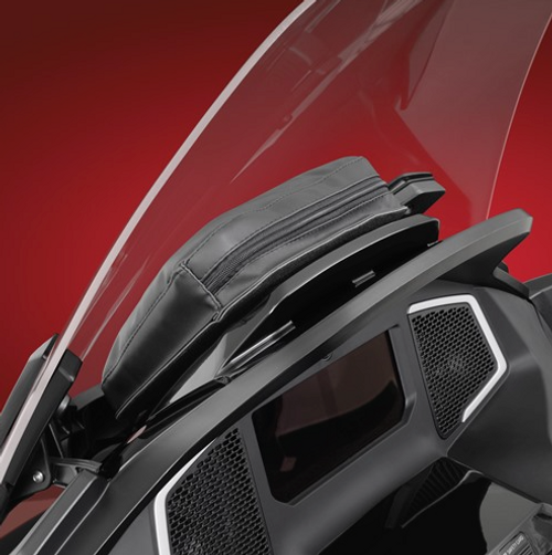 Dash Pouch On 2020 Can-Am Spyder RT (Side View)