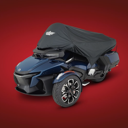 Ultragard Can Am RT Black Half Cover (2020 - Present) (SC-4-447BK) Black Half Cover On Can-Am Spyder RT (2020 - Present)