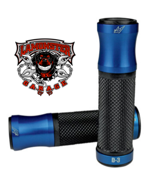 "DRIVEN® D3 Grip and Bar End Combo (7/8""ID) Blue / Black (LGA-0630-0701 / LGA-0634-0354)"
