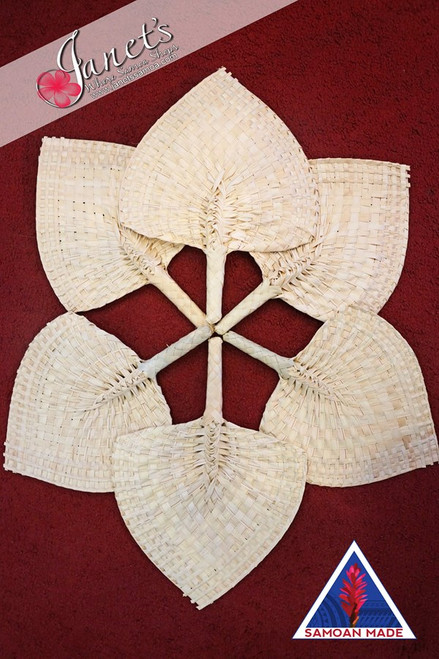 Samoan Wedding Fans PLAIN SET of 6