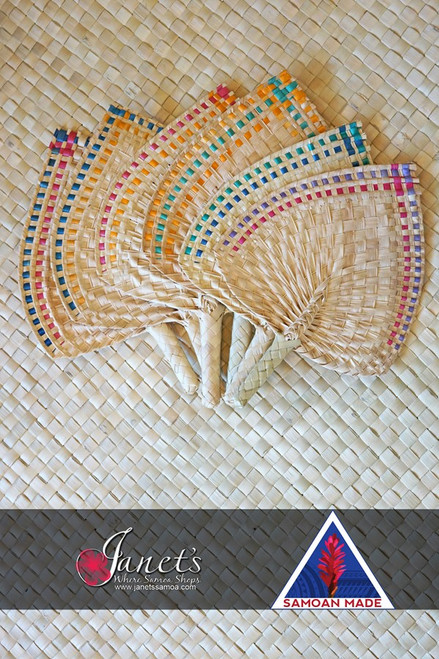 Samoan Wedding Fans EDGED SET of 6