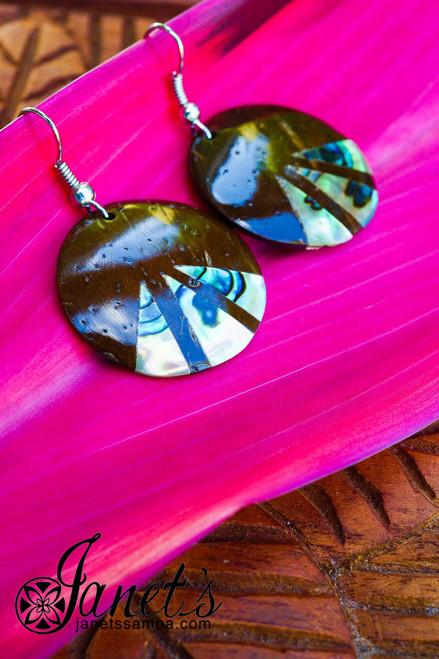 Coconut Earring w/ Paua JIP02