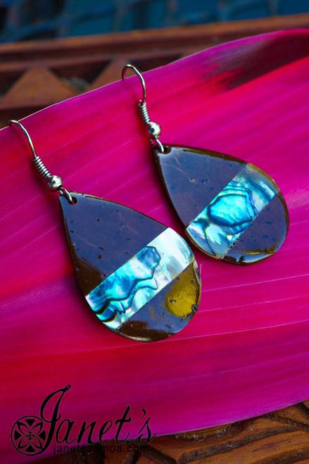 Coconut Earring w/ Paua JIP09