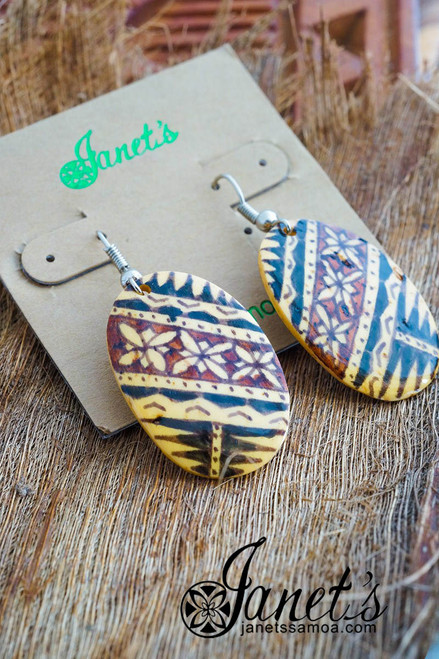 Painted Coconut Earring JIPE01