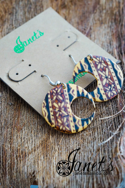 Painted Coconut Earring JIPE02