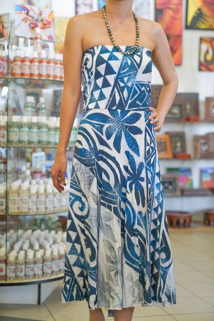 Janet's STRAPLESS DRESS DARK BLUES
