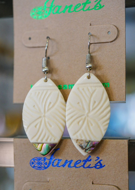 Bone and Paua Earring JIEBA