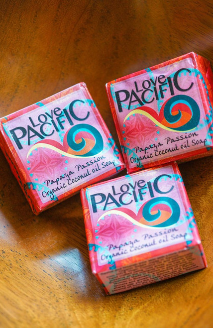 Love Pacific Papaya Passionfruit Soap Set of 3 LP313