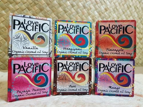 Love Pacific Organic Coconut Soap set of 6 LP317