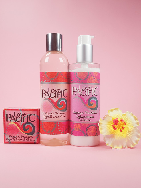 Love Pacific set Oil, Body Lotion & Soap Papaya Passion  LP319