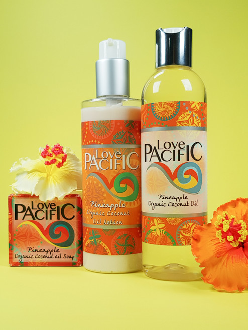 Love Pacific set Body Lotion, Oil & Soap Pineapple LP321