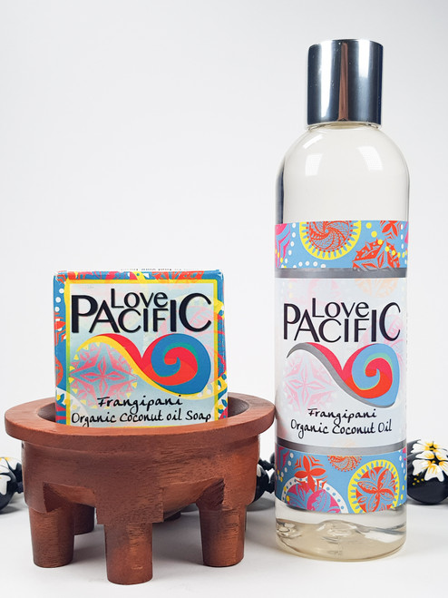Love Pacific set Body oil & soap Frangipani LP322