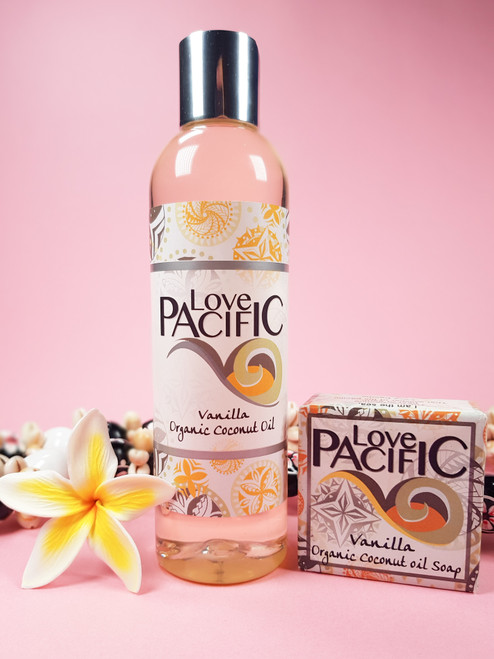 Love Pacific set Vanilla Body oil & soap LP324