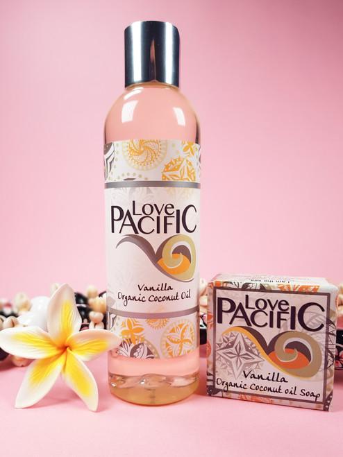 Love Pacific set Vanilla Body oil & soap LP324