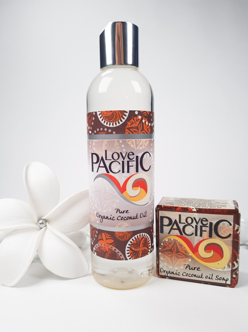 Love Pacific set Pure coconut Body oil & soap LP325
