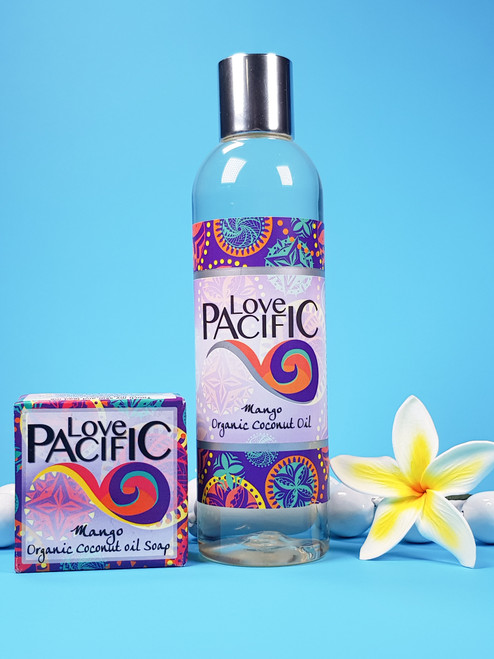 Love Pacific set Body oil & soap Mango LP326