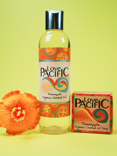 Love Pacific set Body oil & soap Pineapple LP327