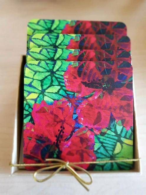 CA Printed Coaster Hibiscus CAPC309