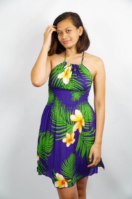Samoan Dress WOMEN BLUE GREEN ONE SIZE