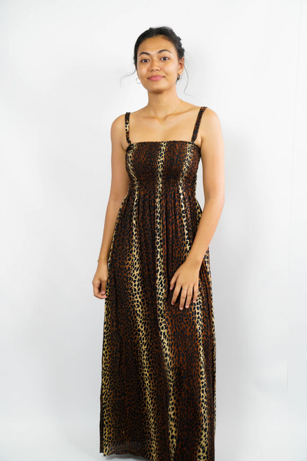 LONG DRESS BROWN ONE SIZE