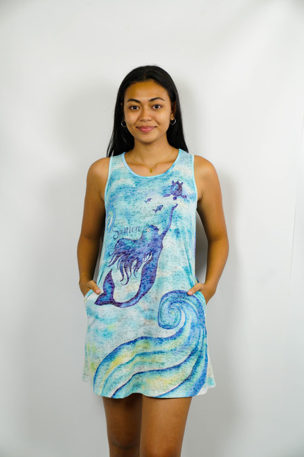 KAI WAHINE Polynesian Dress MERMAID TANK